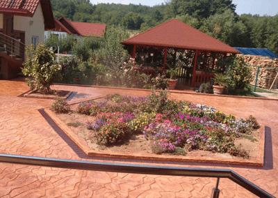 Hormigón impreso jardín